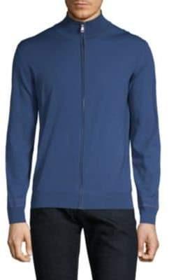 Brioni Wool Zip Front Sweatshirt