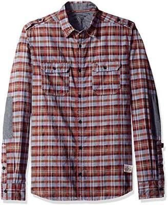 Buffalo David Bitton Men's Sitroll Long Sleeve Fashion Plaid Woven Shirt