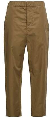 Marni Creta Cropped Cotton-twill Tapered Pants