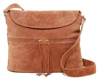 Elizabeth and James James Suede Crossbody Hobo