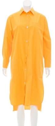 Max Mara Long Sleeve Button-Up Dress