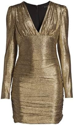 BCBGMAXAZRIA Metallic Knit Dress