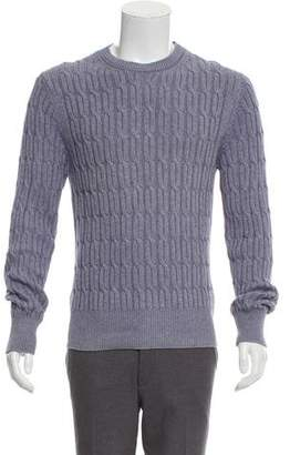 Tom Ford Woven Crew Neck Sweater
