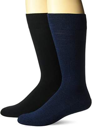 Dr. Scholl's Men's Ultra Comfort Diamond Marl Crew Socks 2 Pair