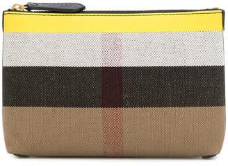 Burberry medium check pouch