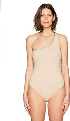Jantzen Women's Texture Shoulder One Piece Swimsuit