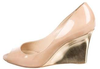 Jimmy Choo Patent Leather Wedge Pumps