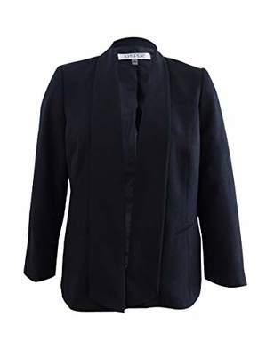 Kasper Women's Plus Size Stretch Crepe Wide Lapel Jacket