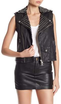Muu Baa Muubaa Studded Voisin Gilet Leather Vest