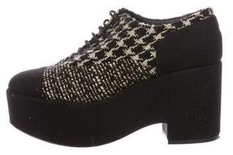 Chanel Tweed Platform Oxfords