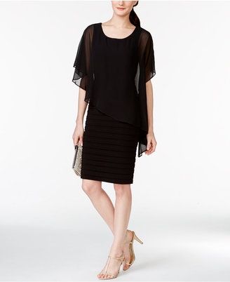 B&A by Betsy and Adam Chiffon Capelet Sheath Dress $109 thestylecure.com