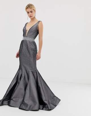 Jovani Structured Fishtail Maxi Dress