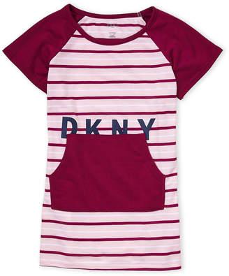 DKNY Girls 7-16) Stripe Logo Sleep Tee