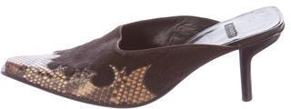 Casadei Snakeskin & Ponyhair Mules $65 thestylecure.com