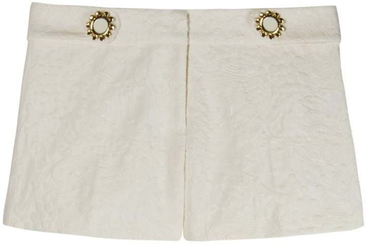 Milly Embossed Print Hot Pants
