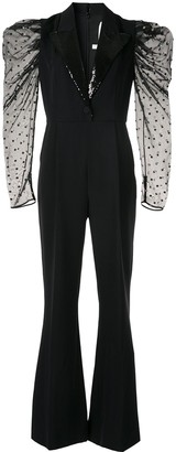 Ingie Paris puff-sleeve jumpsuit