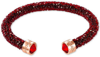 Swarovski Rose Gold-Tone Red Crystaldust Open Cuff Bracelet