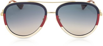 Gucci GG0062S Aviator Gold Metal Sunglasses