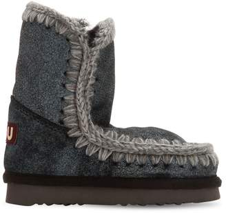 Mou Mini Eskimo Shiny Shearling Boots
