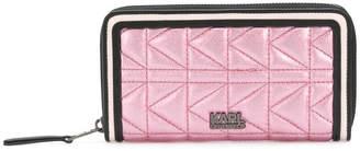 Karl Lagerfeld K/Kuilted zip wallet