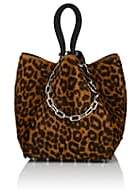 Alexander Wang Women's Roxy Small Goat Hair & Leather Tote Bag - Leopard