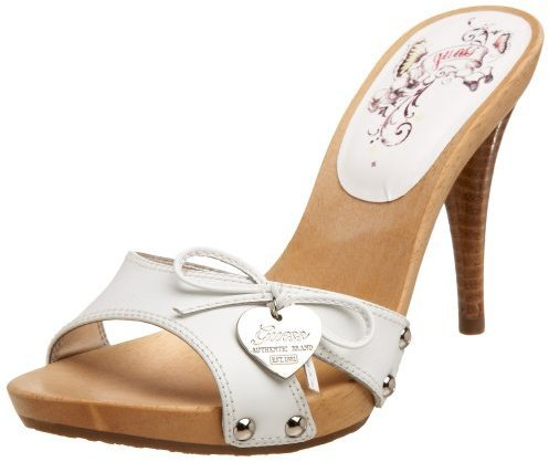 GUESS Women'S Shower3 Once Band Wooden Sandal