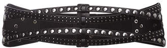 BCBGMAXAZRIA Mixed-Stud Waist Belt