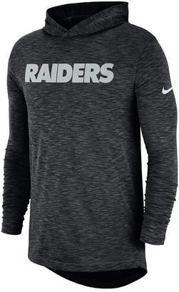 Nike Men's Oakland Raiders Dri-Fit Cotton Slub On-Field Hooded T-Shirt