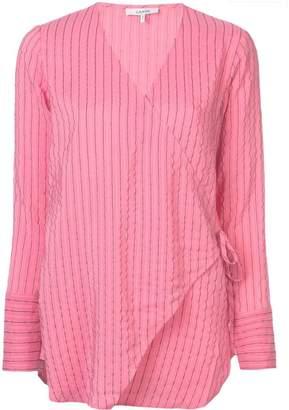 Ganni wrap front blouse