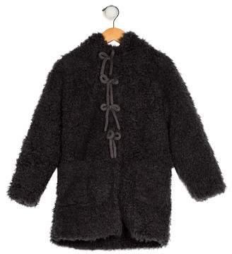 Lili Gaufrette Girls' Faux Fur Hooded Coat w/ Tags