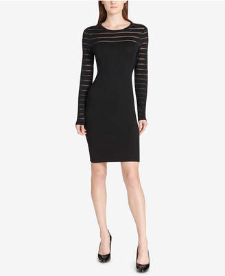 Tommy Hilfiger Illusion-Stripe Sweater Dress