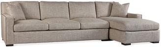 Massoud Furniture Walter Right-Facing Sofa - Pebble