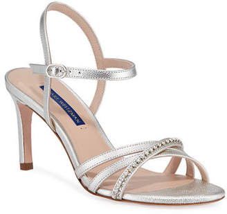 9e9692f81 Stuart Weitzman Oriana 75 Crystal-Strap Patent Leather Sandals