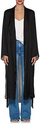 Juan Carlos Obando Women's Washed Satin Long Robe - Black