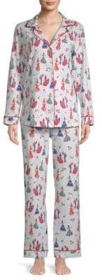 BedHead Two-Piece Printed Cotton Pajama Set