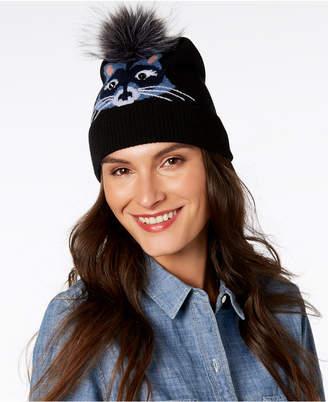 Kate Spade Wool & Faux-Fur Raccoon Beanie
