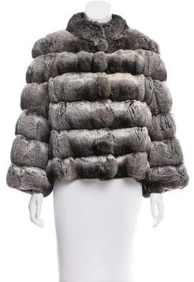 Carmen Marc Valvo Chinchilla Short Coat
