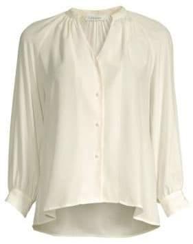 Frame Silk Raglan Button-Down Shirt