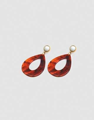 Lizzie Fortunato Tortoise Teardrop Earrings