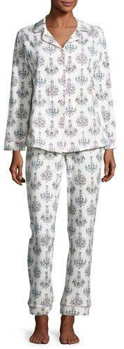 BedHeadBedhead Print Classic Pajama Set, Chandelier Damask