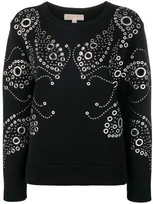 MICHAEL Michael Kors studded detail sweatshirt