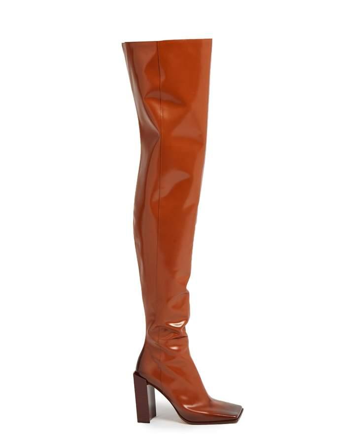 Balenciaga BALENCIAGA Quadro square-toe leather boots
