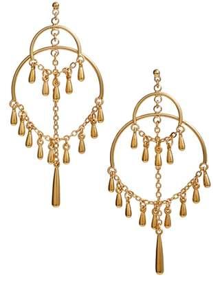 Rebecca Minkoff Double Ring Teardrop Earrings