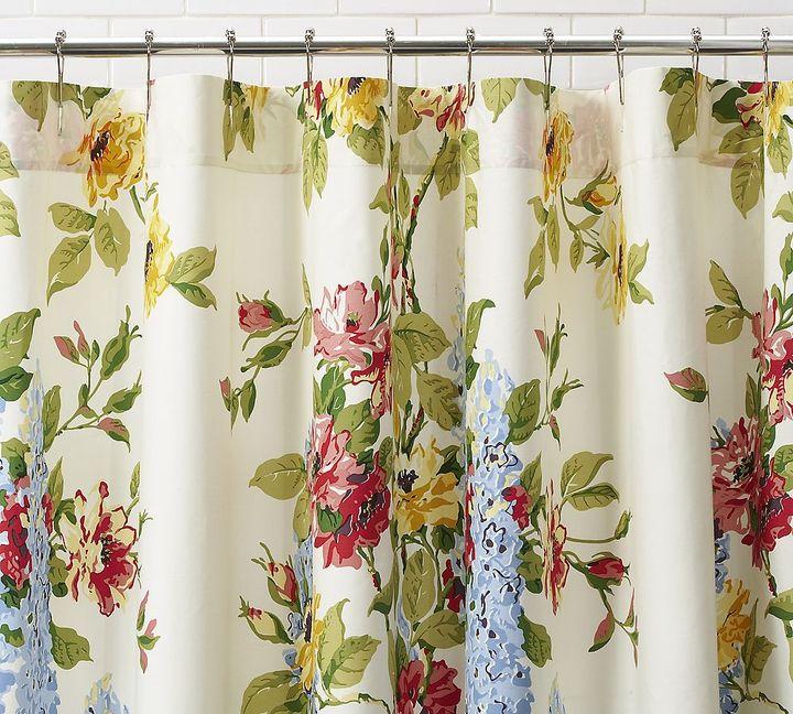 Delphine Organic Shower Curtain