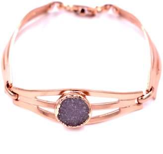 LUX DIVINE Drusy Cuff Bracelet