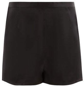 La Perla Silk Satin Pyjama Shorts - Womens - Black