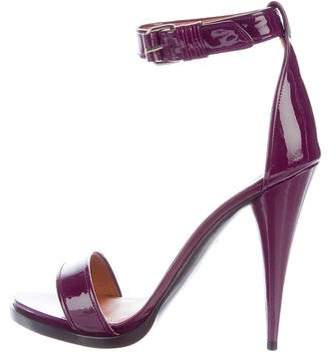 Givenchy Patent Leather Ankle Strap Sandals