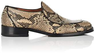 Dries Van Noten Men's Python-Stamped Leather Loafers