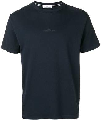 Stone Island logo embroidered T-shirt