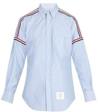 Thom Browne - Button Down Woven Cotton Shirt - Mens - Light Blue